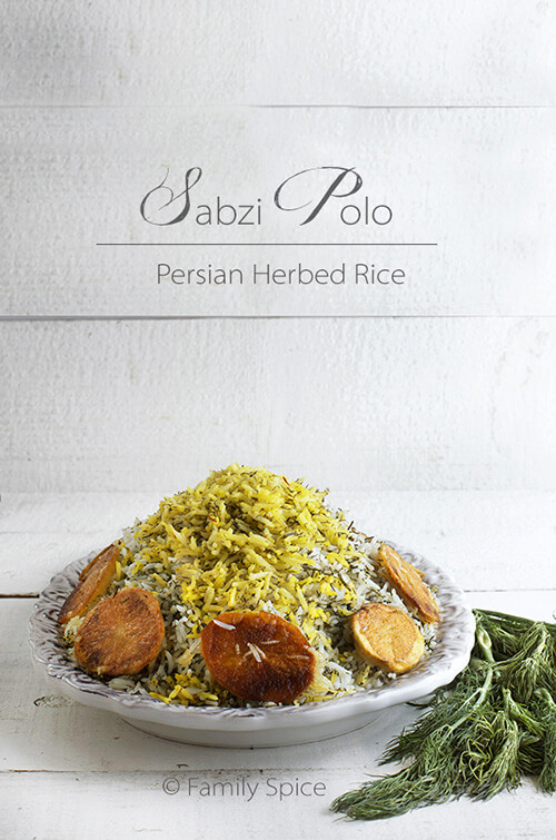 eid recipe persian herbed rice