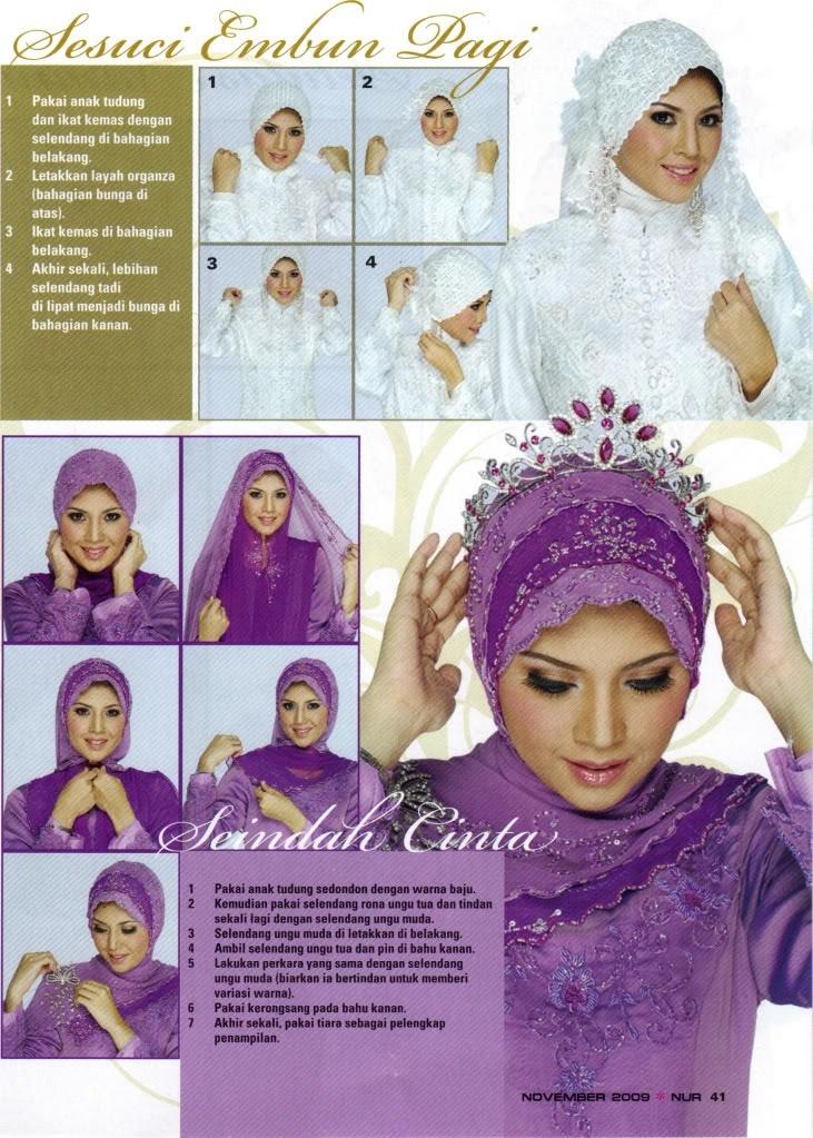 elegant bridal hijab