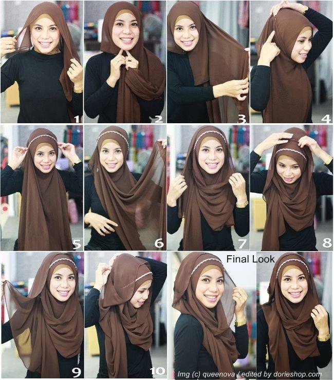 headband layered hijab