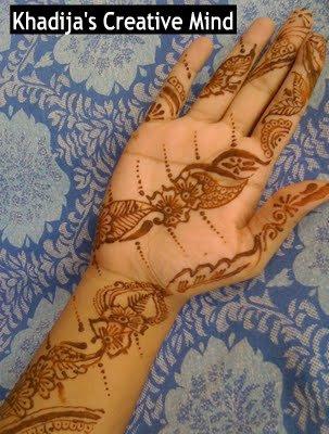 mehndi henna on hands