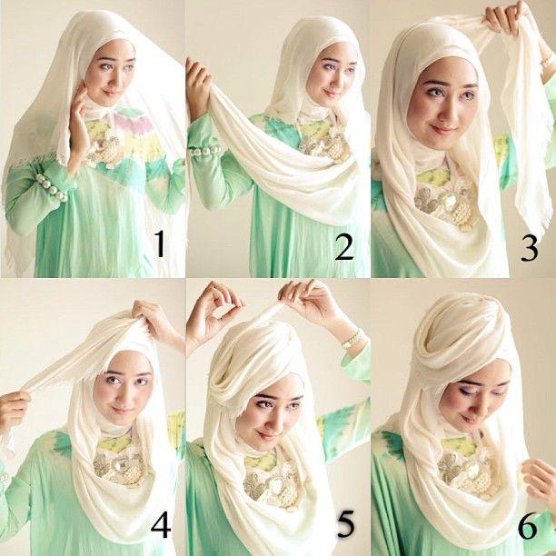 simple stylish hijab