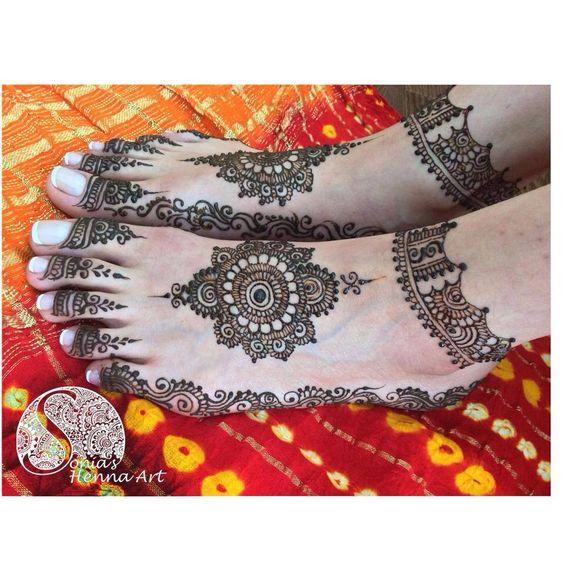 tikki feet bridal mehndi