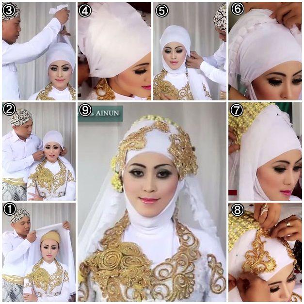 white bridal hijab
