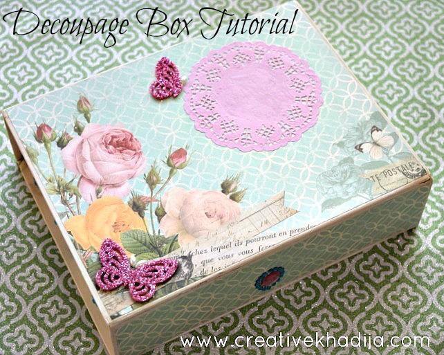 box decoupage ideas with mod podge
