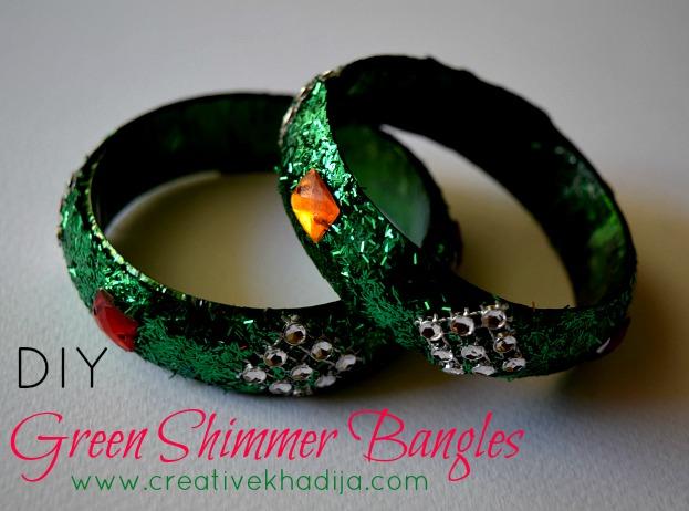 DIY Green Shimmer Bangles-Azadi Crafts Series