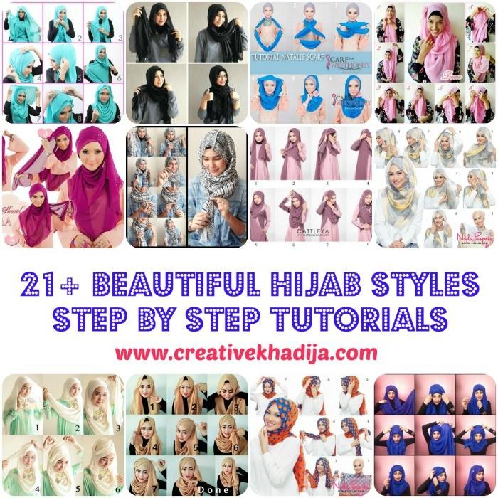 easy beautiful fashionable hijab styles tutorials how to wear hijab