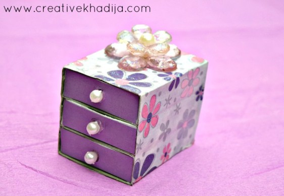 how to decoupage matchbox drawer decoupage idea