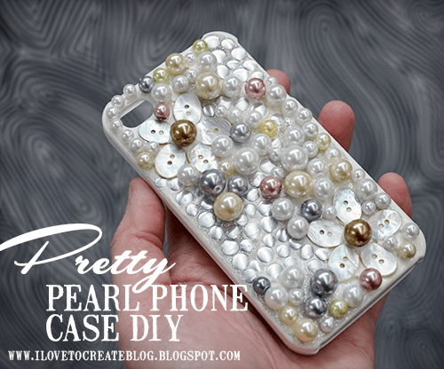 DIT pretty pearl phone cover