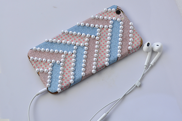 DIY washi tape phone cover