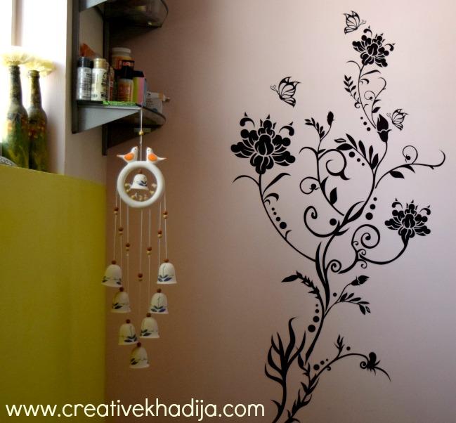 creative khadija craft room wall decal installation