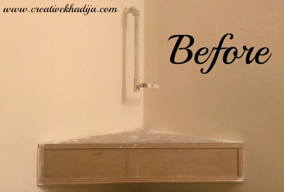 how to decoupage wooden corner shelf DIY