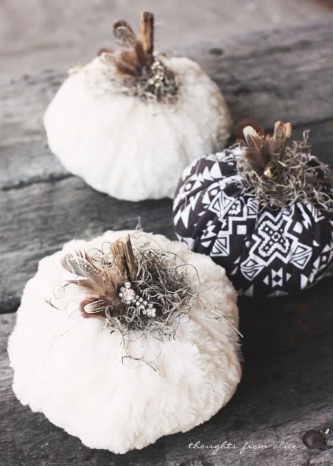 fall and halloween fabric pumpkins ideas for kids