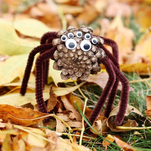 fall and halloween crafts ideas kids spiders