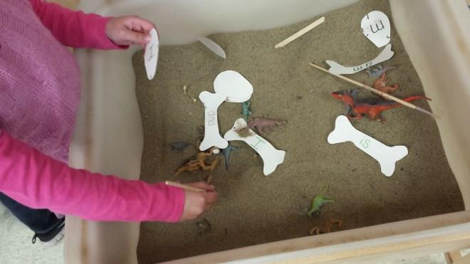dinosaur sand table
