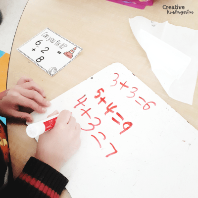 Can you fix it? Kindergarten math problems to work on addition and subtraction skills. Reinforce writing number sentences with these fun task cards.