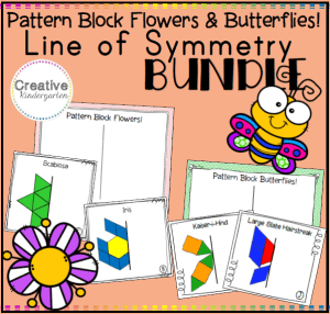 Pattern Block Line of Symmetry Activities square preview