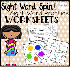 Sight Word Spin Square Preview