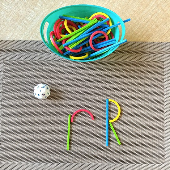 Reinforce literacy skills with these fun, hands-on activities. Students will practice letter recognition and letter formations while using this fun manipulative and loose parts.