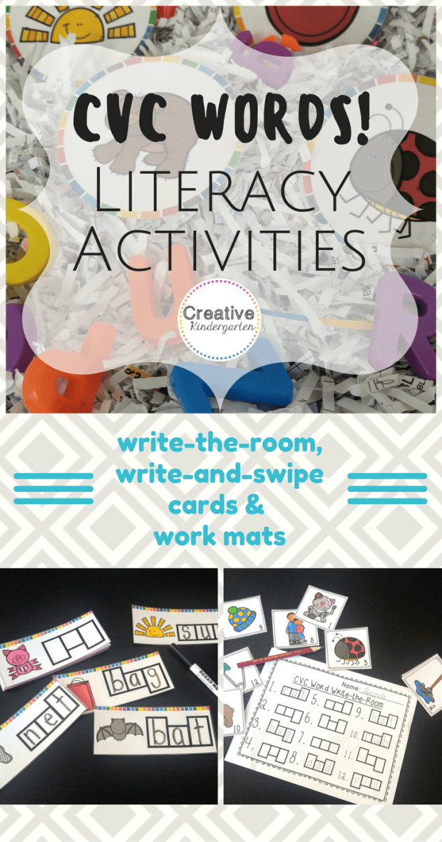 CVC Words literacy activity - pinterest