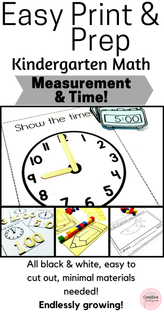 Copy of Easy Print & Prep Measurement and Time- Pinterest
