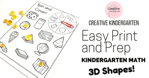 Easy Print and Prep 3D Shapes -Facebook
