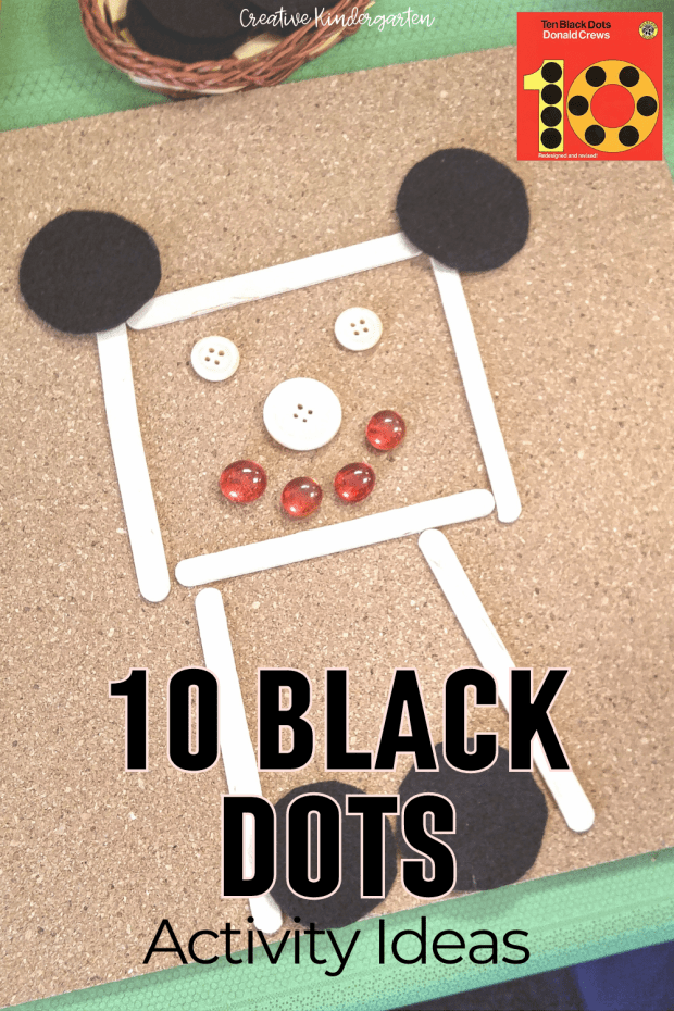 Use the book 10 Black Dots to inspire activities to work on composing 10 and number sense. Be creative with small world play and a free writing prompt.