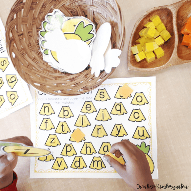 Pineapple literacy activity