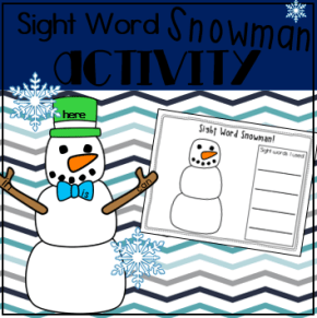 Sight Word Snowman Square Preview