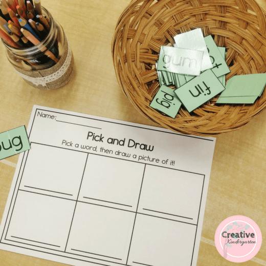 CVC, CCVC, CVCC worksheets and activities for kindergarten
