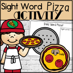 Sight Word Pizza Square Preview