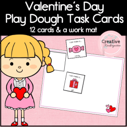 Valentine's Day Play Dough Task Cards- square cover