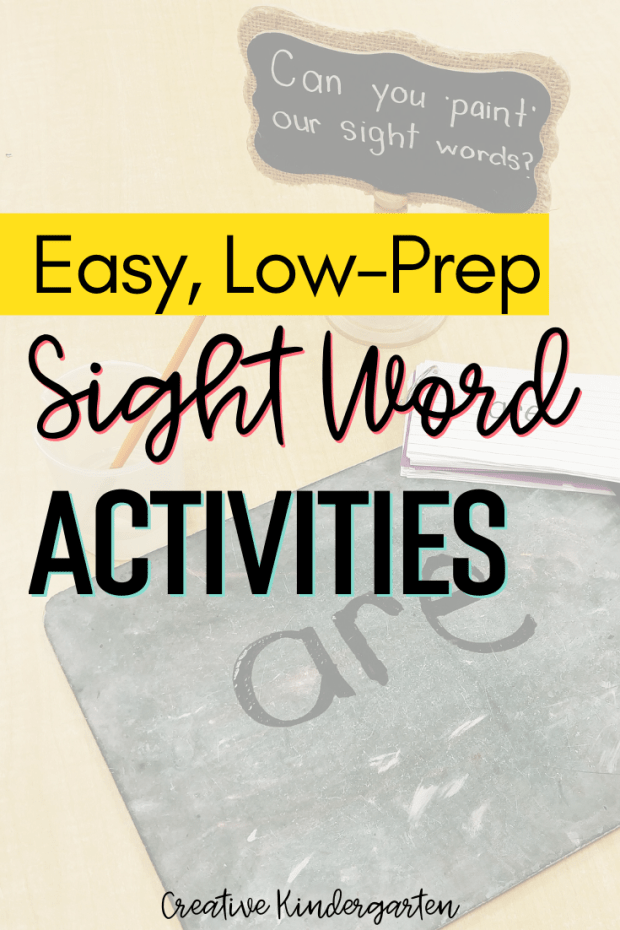 reinforce sight word recognition and spelling with these low-prep activities. Practice sight words in kindergarten with these hands-on centers.