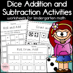 Dice Math Activities- Square Preview