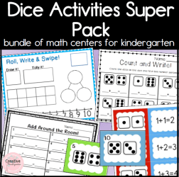 Dice Math Activities Super Pack Square Preview