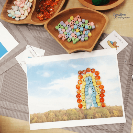 literacy loose parts center for kindergarten