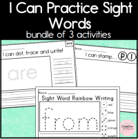I Can Practice Sight Words Square Previe