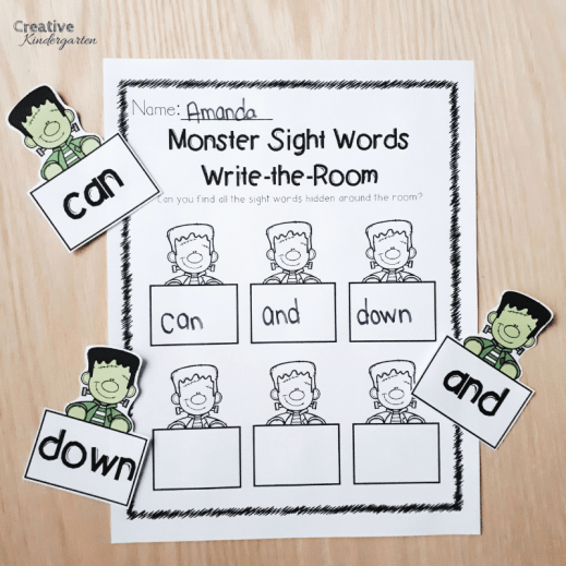 Monster Sight Words Literacy Activities | Creative Kindergarten