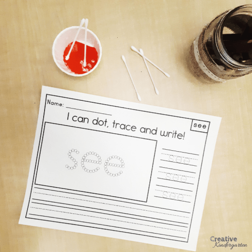 Hands-on, fun sight word practice for kindergarten literacy centers. Use these writing activities to reinforce sight word recognition and spelling.