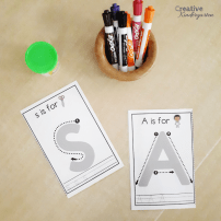 Letter play dough mats to practice letter formation for beginning of the year literacy centers. Great for morning tubs, independent center rotations.