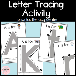 letter tracing activity square cover