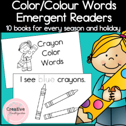 Color Emergent Reader Square Preview