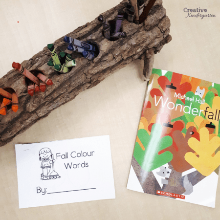 Fall Color Emergent reader books for kindergarten literacy center. Practice color word spelling and recognition with these student books.