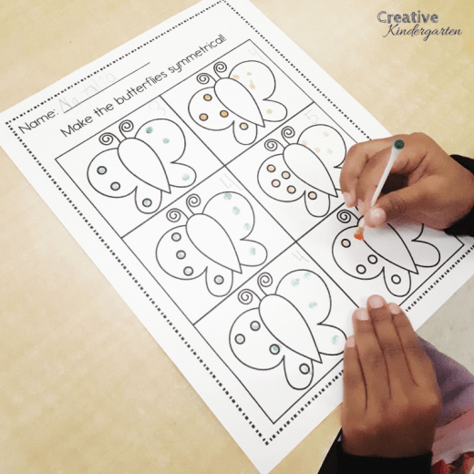 Teach symmetry to kindergarten students with these fun, hands-on math activities. Work on making pictures symmetrical with these centers, and make a line of symmetry.