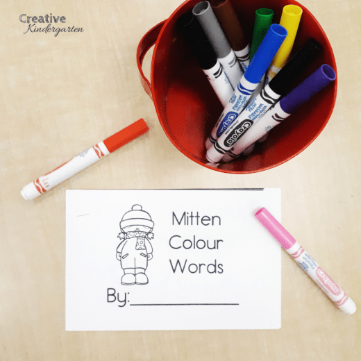 colour word emergent reader books to reinforce color words in kindergarten. colour word recognition and spelling, fine motor practice and reading skills all in one literacy activity!