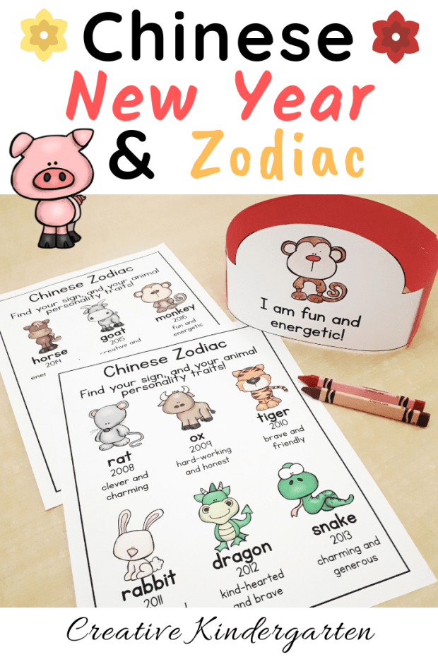 Chinese New Year and Chinese Zodiac crafts and activities to celebrate the holiday with your students. Make a headband, necklace or bookmark.