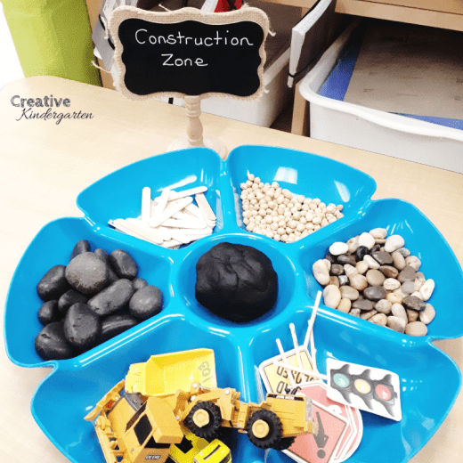 Construction worker play dough community helper activity. A fun, hands-on fine motor station for construction theme.