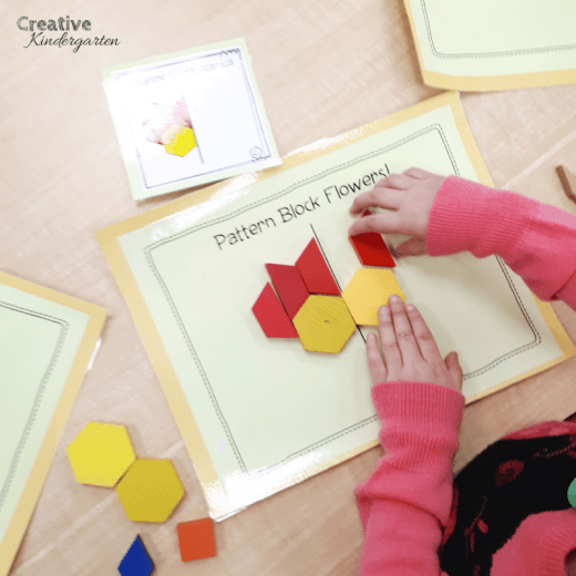 Practice completing images along a line of symmetry with this fun and hands-on math center for kindergarten. Complete the flowers with this perfect spring themed activity.