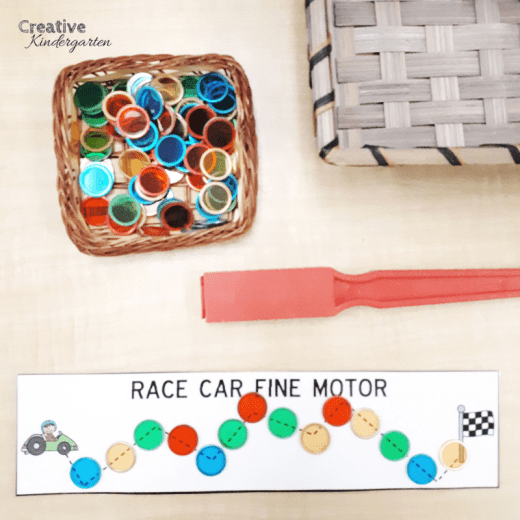 Fine motor activity for kindergarten. Explore magnets and work on fine motor skills with this fun, hands-on activity.