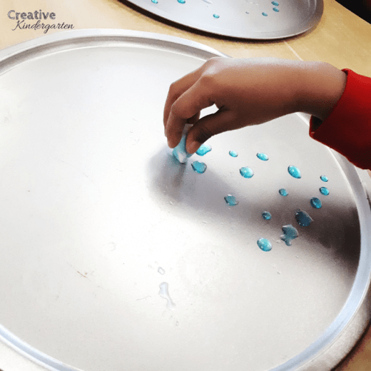 A kindergarten science provocation to get students thinking about how rain clouds word. Do this experiment for hands-on learning about the water cycle, cloud formation, rain, rain clouds and the weather.