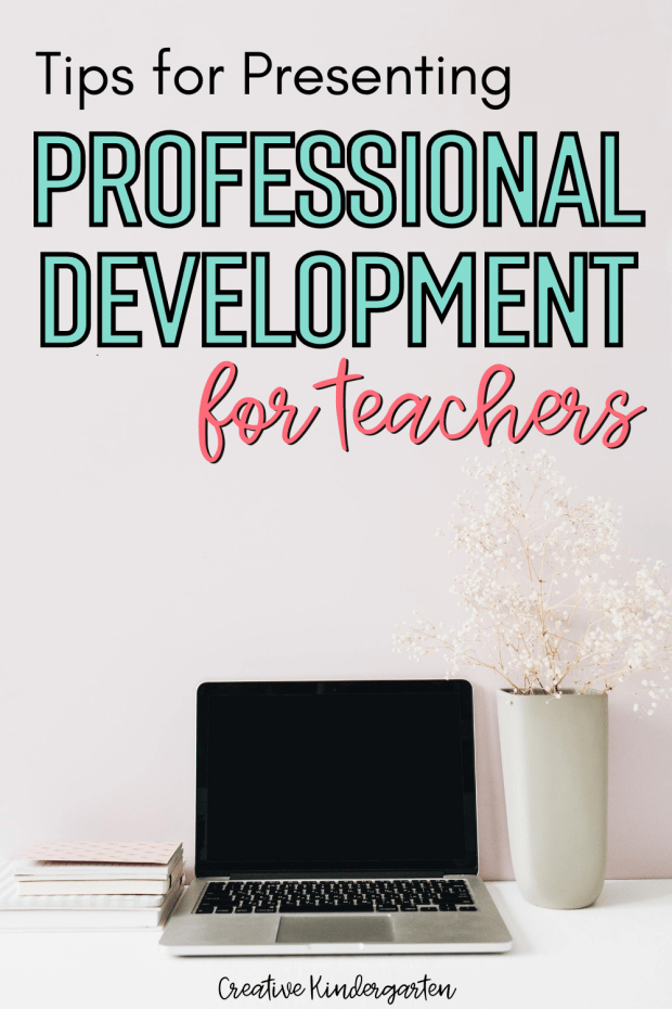 Presenting Professional Development for teachers for the first time can be intimidating. I share my tips for making your own PD session.